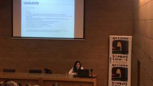 """Carmen Pazos, Técnico de Empleo del Ayuntamiento de San Pedro del Pinatar, con la conferencia """"El mundo laboral y el TEA"""""""